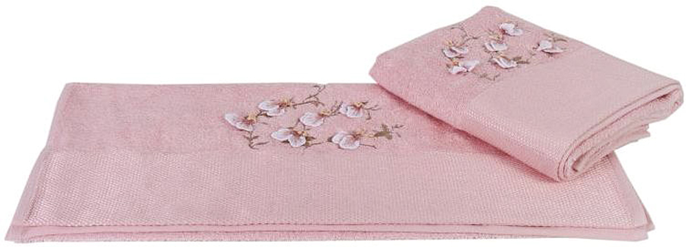 """Полотенце махровое Hobby Home Collection """"Beyra"""", цвет: пудра, 50х90 см"""