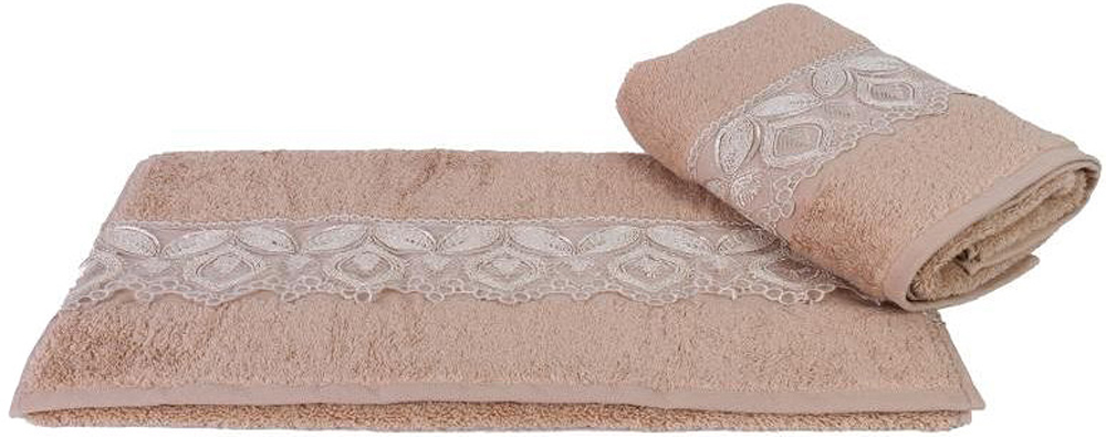 "Полотенце махровое Hobby Home Collection ""Sidelya"", цвет: коричневый, 50 х 90 см"