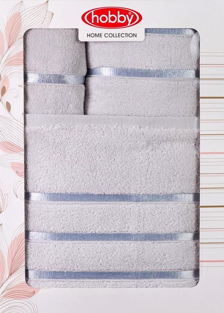 "Набор полотенец Hobby Home Collection ""Dolce"", цвет: светло-серый, 3 шт"