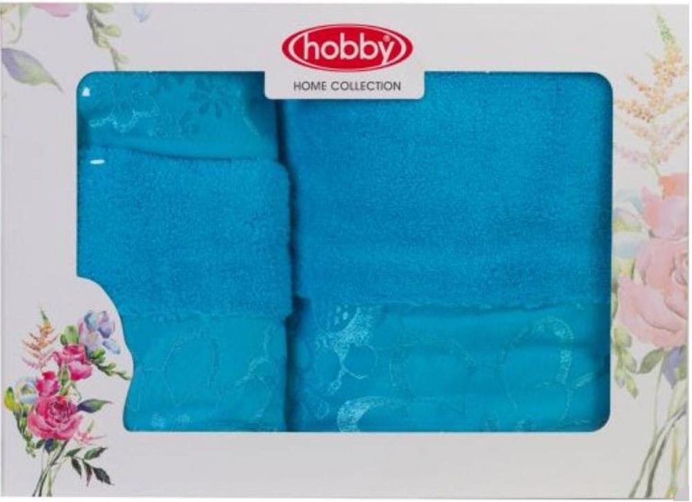 Набор полотенец Hobby Home Collection Dora, цвет: бирюзовый, 3 шт набор полотенец hobby home collection dolce цвет светло серый 3 шт