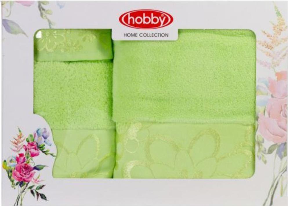 "Набор полотенец Hobby Home Collection ""Dora"", цвет: зеленый, 3 шт"