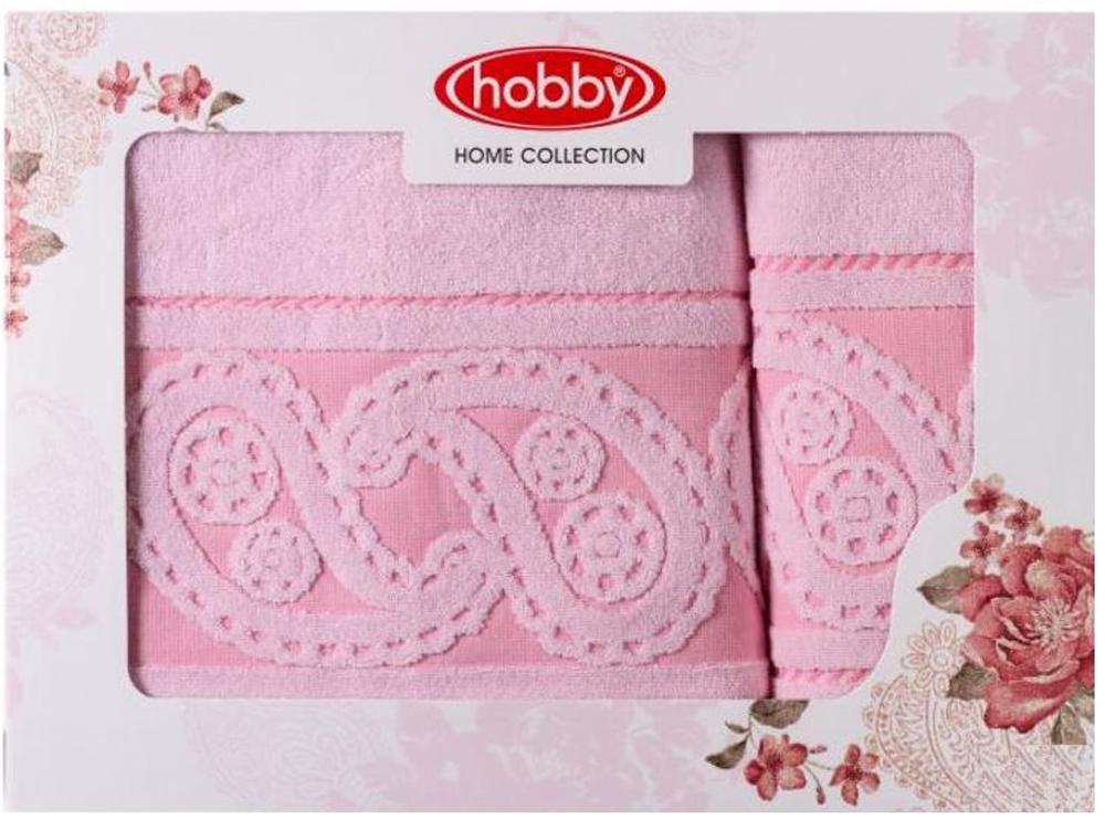 """Набор полотенец Hobby Home Collection """"Hurrem"""", цвет: светло-розовый, 2 шт"""