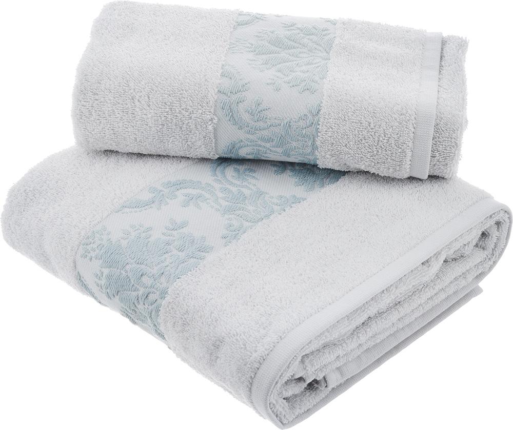 """Набор махровых полотенец Hobby Home Collection """"Ruzanna"""", цвет: светло-голубой, 2 шт"""