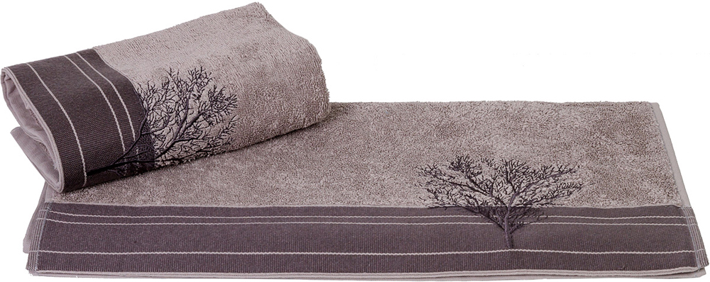 Полотенце махровое Hobby Home Collection Infinity, цвет: серый, 70 х 140 см полотенце махровое dolce hobby home collectionhref page 5