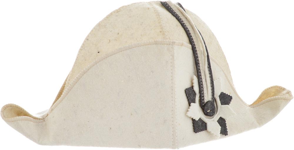 Шапка для бани и сауны Доктор Баня Наполеон, цвет: бежевый шапка для бани и сауны доктор баня универсальная цвет темно серый