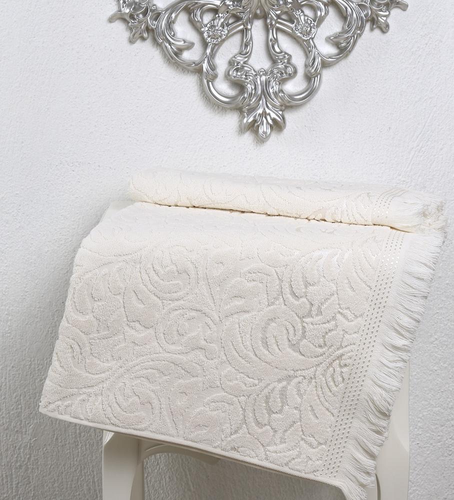 Полотенце Karna Esra, цвет: кремовый, 70 х 140 см полотенца karna полотенце dora цвет кремовый 50х90 см