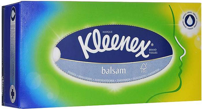 купить Kleenex Салфетки в коробке Balsam, 80 шт недорого