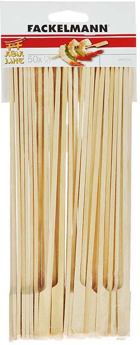 Палочки-шампуры Fackelmann, длина 25 см, 50 шт палочки для коктейля fackelmann сердце цвет синий желтый красный длина 18 см 10 шт