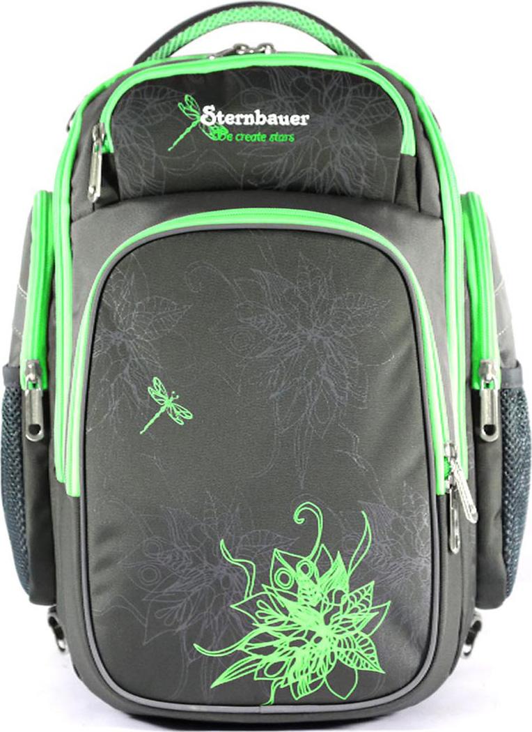 Sternbauer Рюкзак школьный SB с мешком для обуви цвет серый 7309