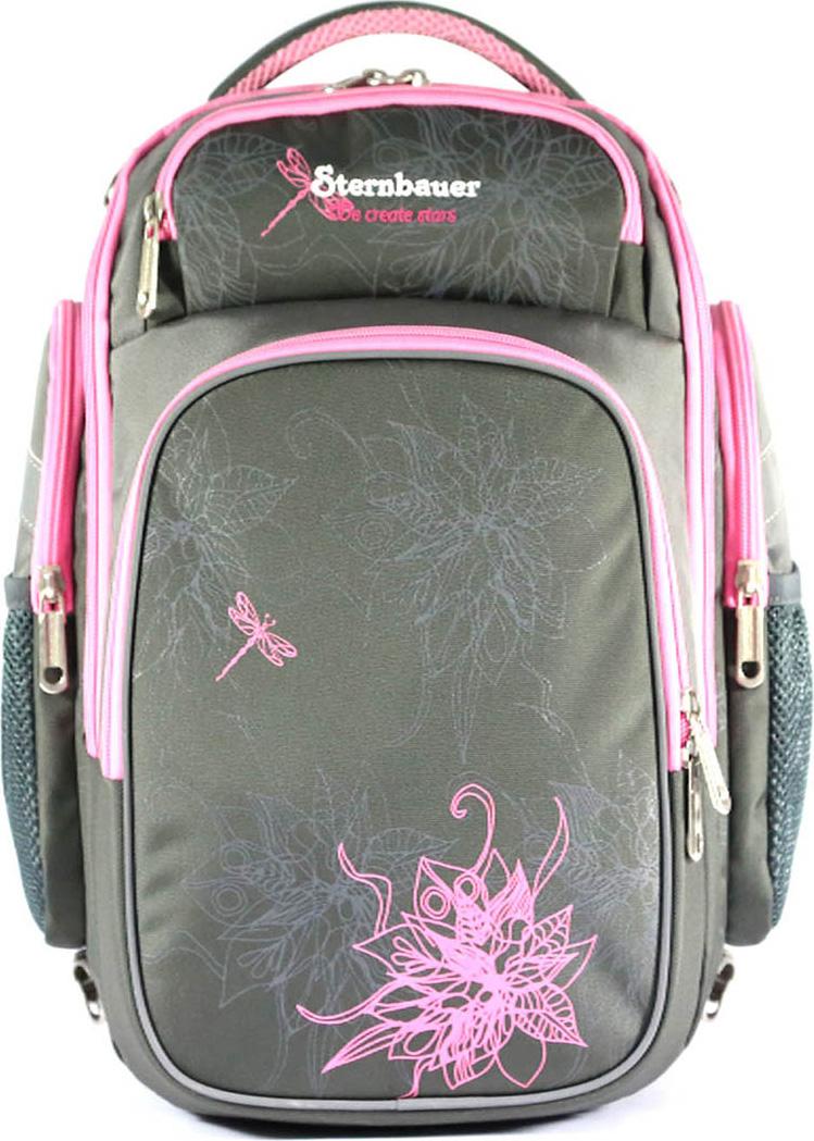 Sternbauer Рюкзак школьный SB с мешком для обуви цвет серый 7310
