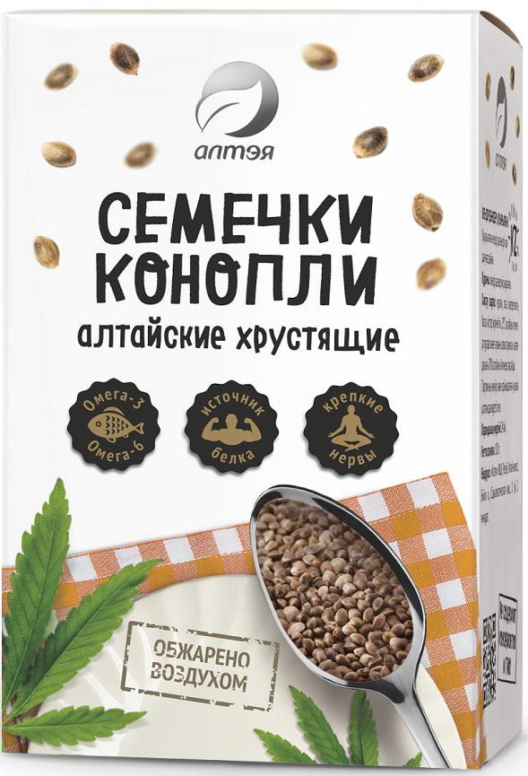 цена Алтэя Семечки конопли Алтайские хрустящие, 100 г