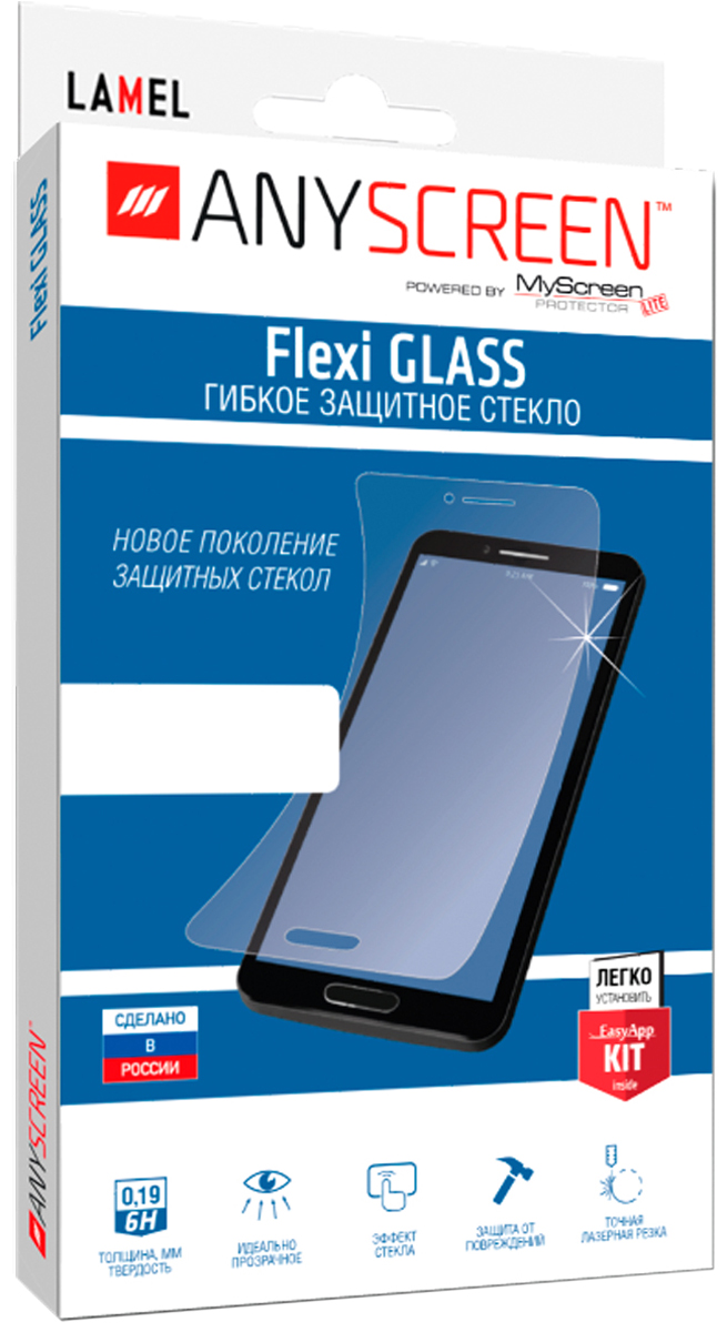 AnyScreen Flexi Glass защитное стекло для Apple iPhone 6/6S Plus, Transparent