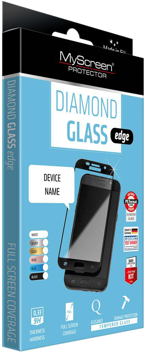 Защитное стекло MyScreen Glass Edge 2,5D для Apple iPhone 6/6S Plus, Black