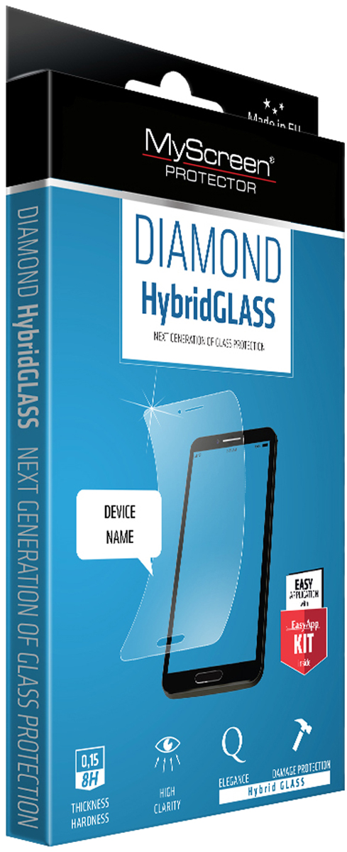 Защитное стекло MyScreen Diamond HybridGLASS EA Kit для HTC U11, Transparent