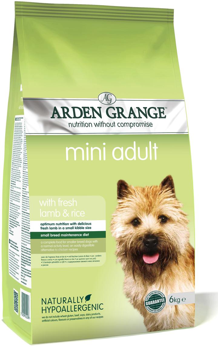 """Корм сухой """"Arden Grange"""", для взрослых собак мелких пород, с ягненком и рисом, 6 кг"""