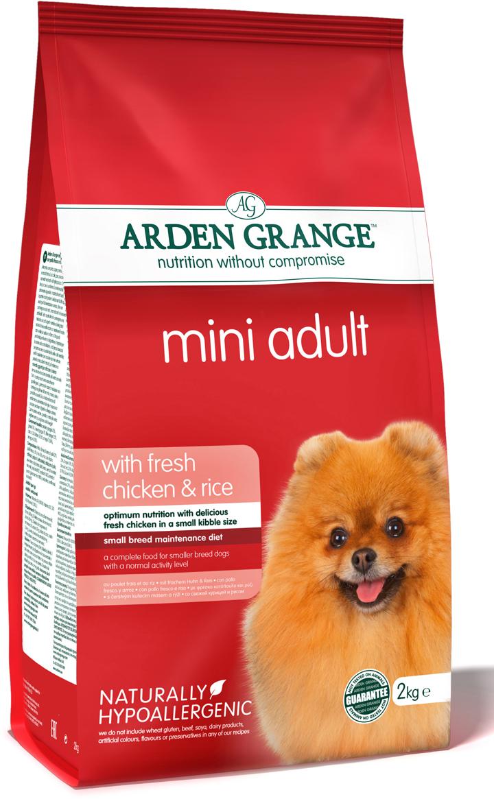"""Корм сухой """"Arden Grange"""", для взрослых собак мелких пород, с курицей и рисом, 2 кг"""
