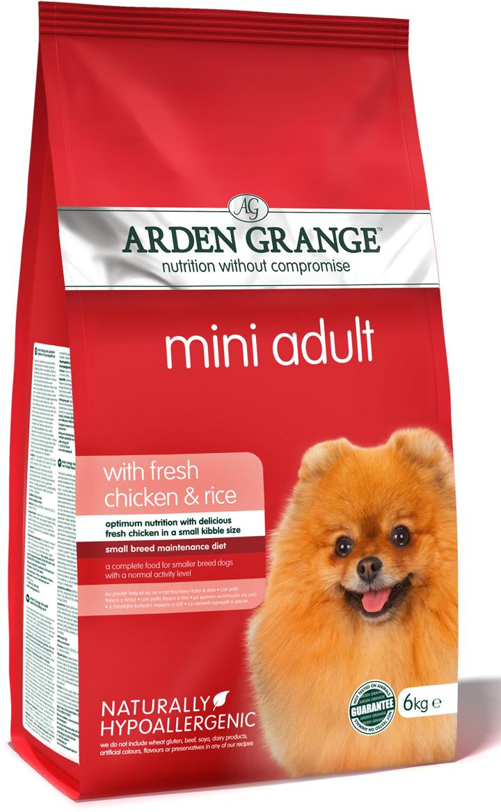 """Корм сухой """"Arden Grange"""", для взрослых собак мелких пород, с курицей и рисом, 6 кг"""