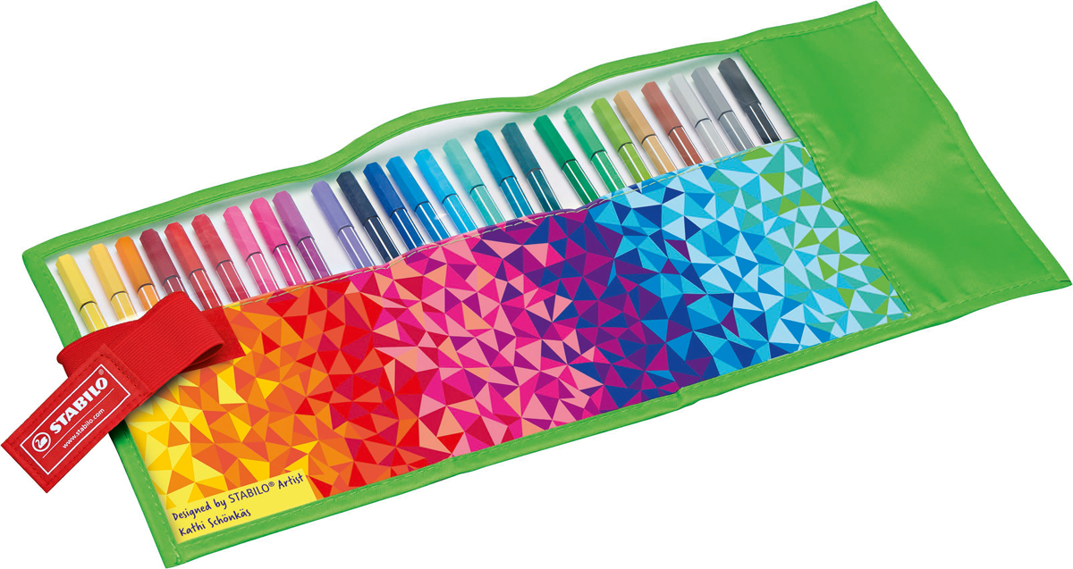 STABILO Набор фломастеров Pen 68 Fan 25 цветов
