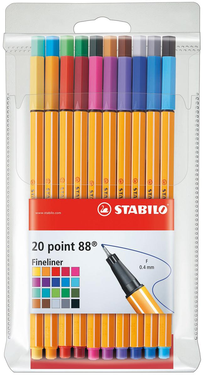 STABILO Набор капиллярных ручек Point 88 20 цветов