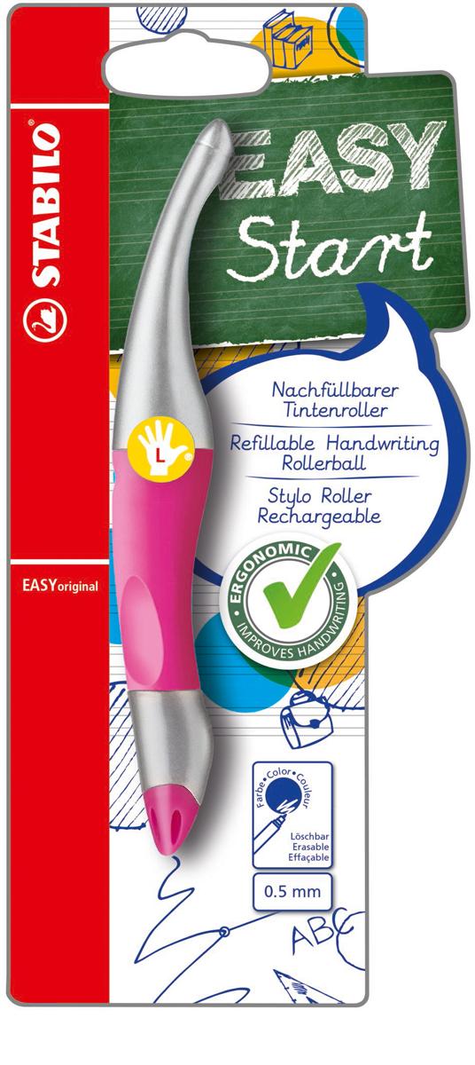STABILO Роллер Easyoriginal Metallic для левшей синий цвет корпуса неоновый розовый