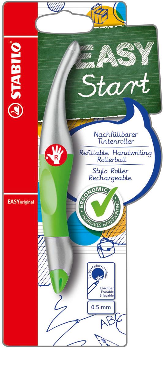 STABILO Роллер Easyoriginal Metallic для правшей синий цвет корпуса неоновый зеленый