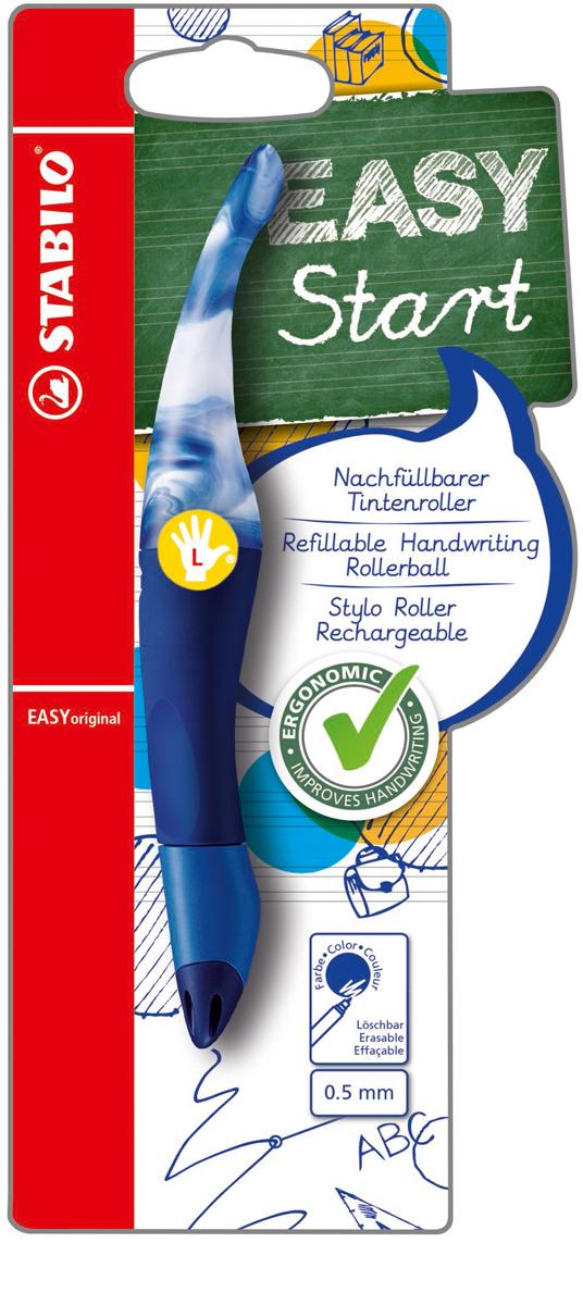 STABILO Роллер Easyoriginal Marbled для левшей синий цвет корпуса мраморный синий