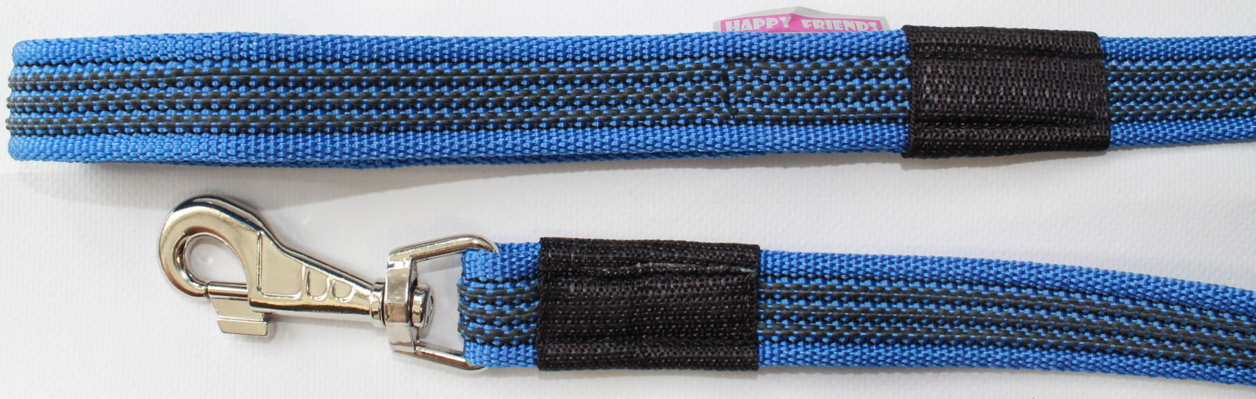 Поводок для собак Happy Friends, плавающий, нескользящий, с усиленным карабином, цвет: синий, ширина 2,5 см, длина 1,20 м поводок для собак happy friends нескользящий цвет синий ширина 2 см длина 2 м
