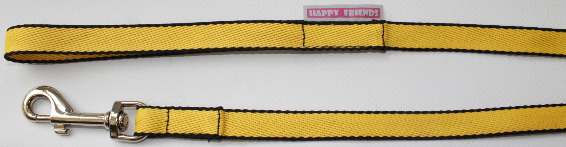 Поводок для собак Happy Friends, цвет: желтый, ширина 1,4 см, длина 2 м поводок для собак happy friends цвет красный ширина 1 см длина 2 м