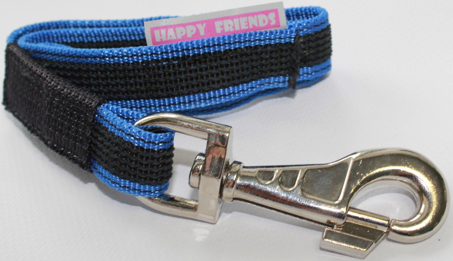 Поводок-водилка Happy Friends, плавающий, нескользящий, цвет: синий, ширина 2,5 см, длина 0,40 м поводок для собак happy friends нескользящий цвет синий ширина 2 см длина 2 м