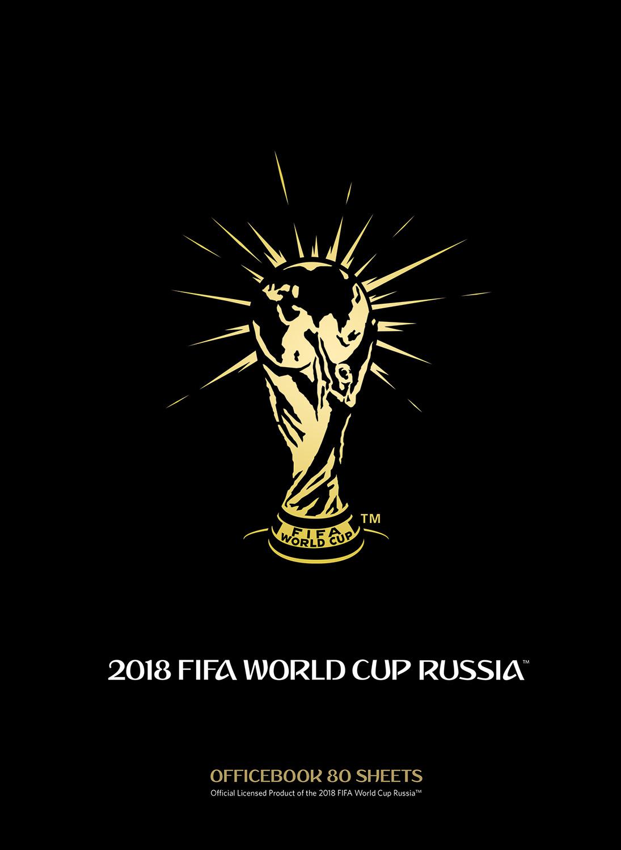 FIFA-2018 Блокнот ЧМ по футболу 2018 Золотая эмблема 80 листов 80ББ4лофВ1_17485 цена в Москве и Питере