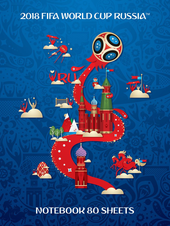 FIFA-2018 Блокнот ЧМ по футболу 2018 цвет синий 80 листов fifa 2018 дневник школьный чм по футболу 2018 сочи