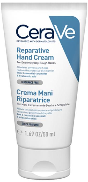CeraVe Увлажняющий крем для сухой и очень сухой кожи рук, 50 мл крема для сухой кожи