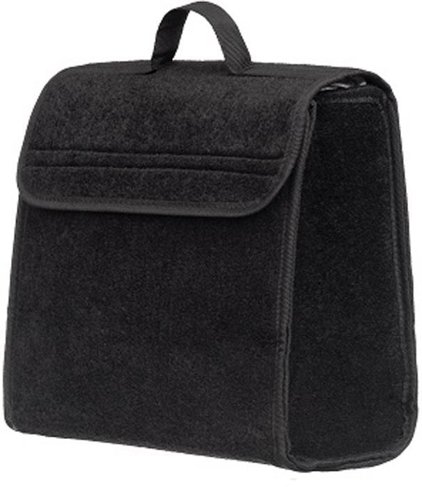 Органайзер в багажник iSky, войлочный, цвет: черный, 30 x 30 x 15 см органайзер с крышкой в багажник isky полиэстер цвет черный 51 x 31 х 31 см