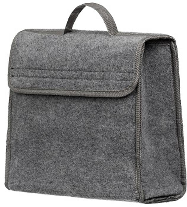 Органайзер в багажник iSky, войлочный, цвет: серый, 30 x 30 x 15 см. iOG-30G органайзер с крышкой в багажник isky полиэстер цвет черный 51 x 31 х 31 см