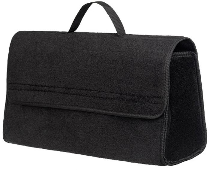 Органайзер в багажник iSky, войлочный, цвет: черный, 50 x 25 x 15 см органайзер с крышкой в багажник isky полиэстер цвет черный 51 x 31 х 31 см