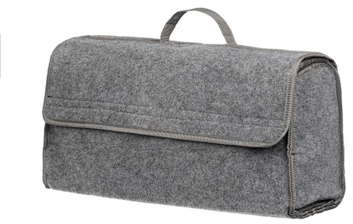 Органайзер в багажник iSky, войлочный, цвет: серый, 50 x 25 x 15 см органайзер с крышкой в багажник isky полиэстер цвет черный 51 x 31 х 31 см