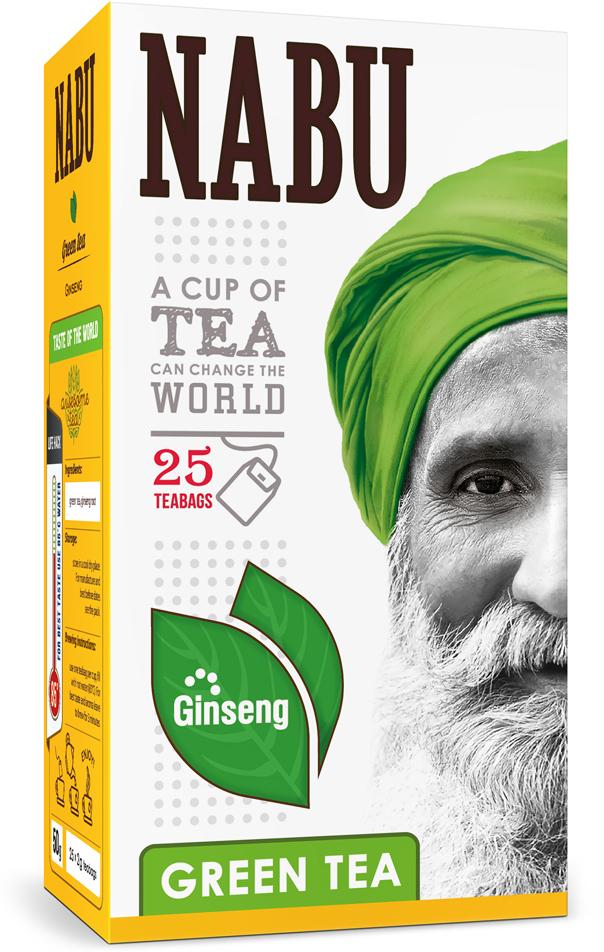 Nabu Green Tea Nabu with Ginseng чай зеленый с женьшенем в пакетиках, 25 шт цена