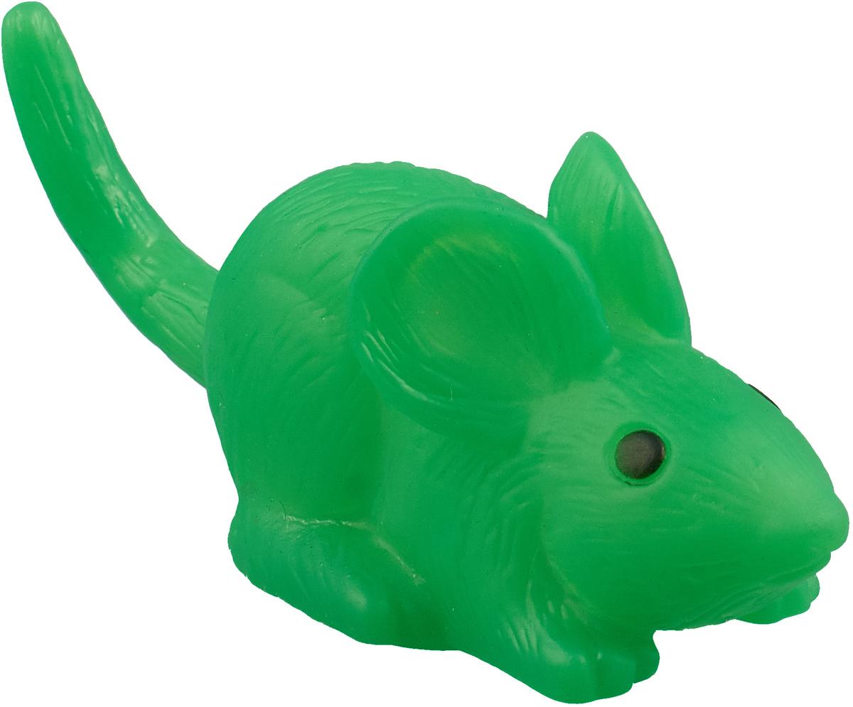 Игрушка для собак Уют Мышь, цвет: зеленый, 9 x 3,5 см форма для печенья lekue елочки цвет зеленый 25 x 18 x 3 см