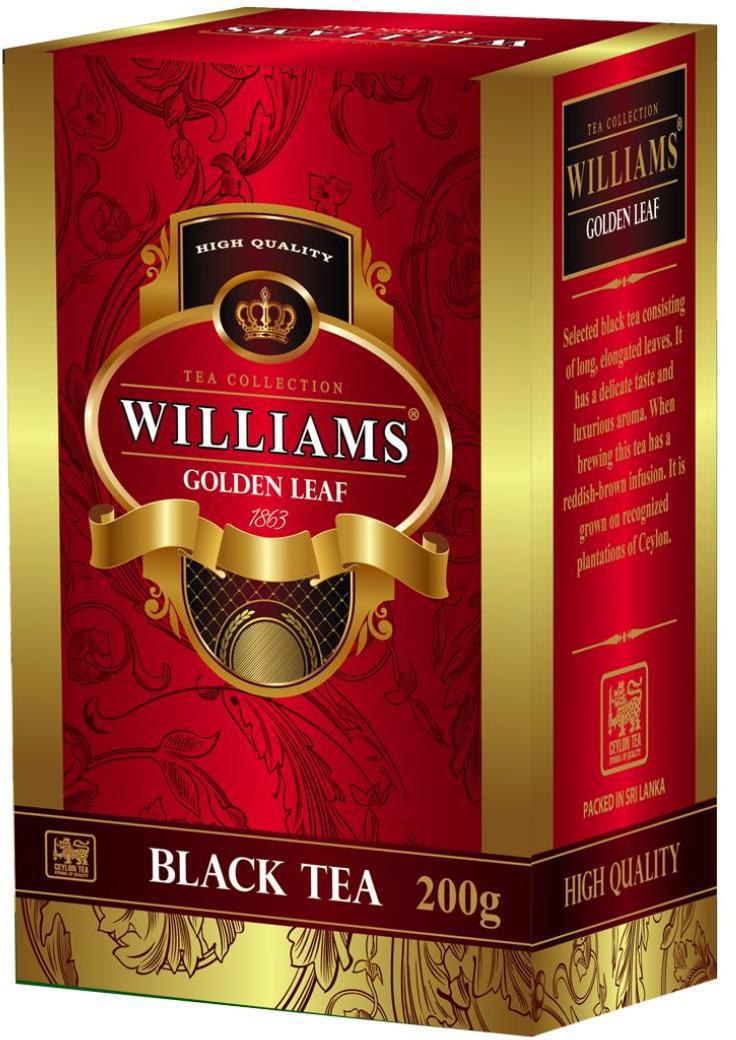 Фото - Williams Golden Leaf чай черный листовой, 200 г белка чай infuser сыпучие leaf сито herbal силиконовый фильтр диффузор