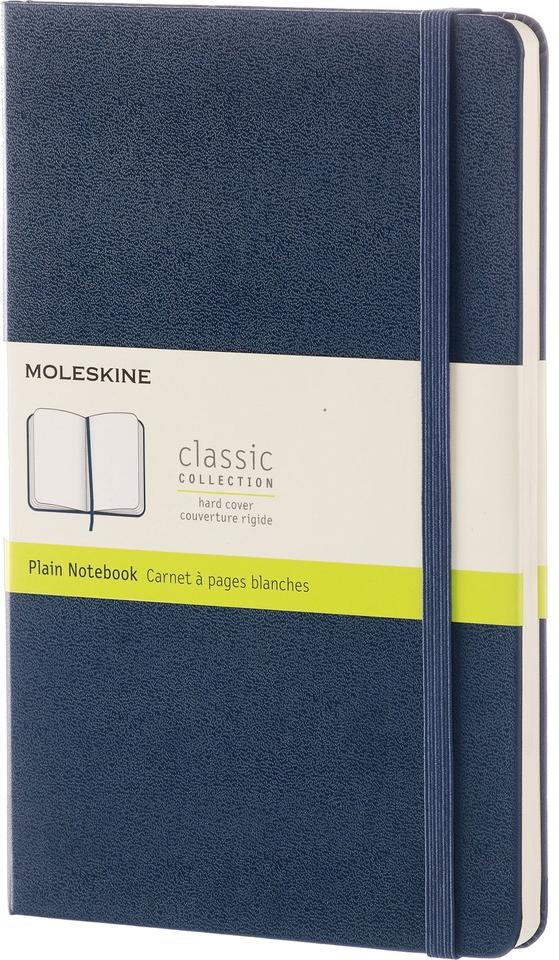 Moleskine Блокнот Classic Large 13 x 21 см 120 листов нелинованный цвет темно-синий