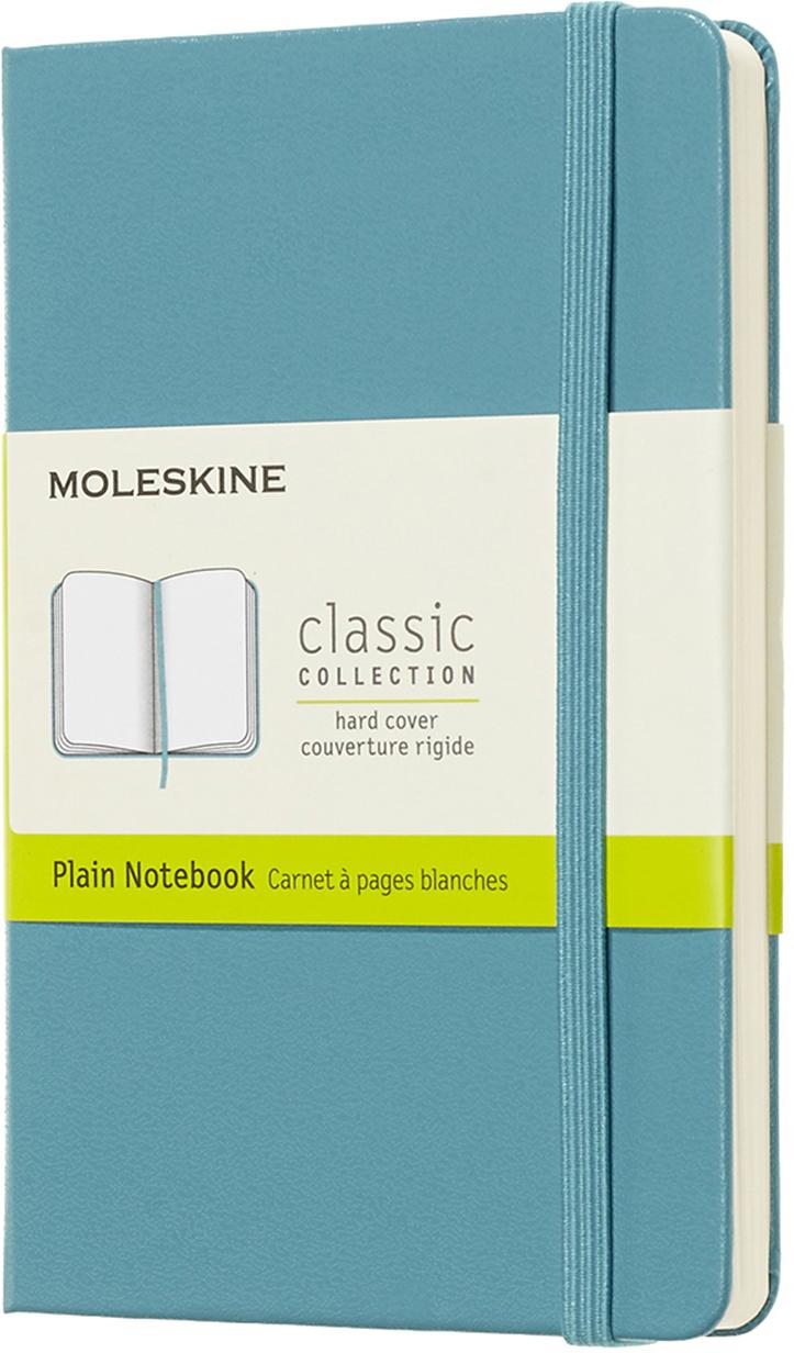 Moleskine Блокнот Classic Pocket 9 x 14 см 96 листов нелинованный цвет голубой