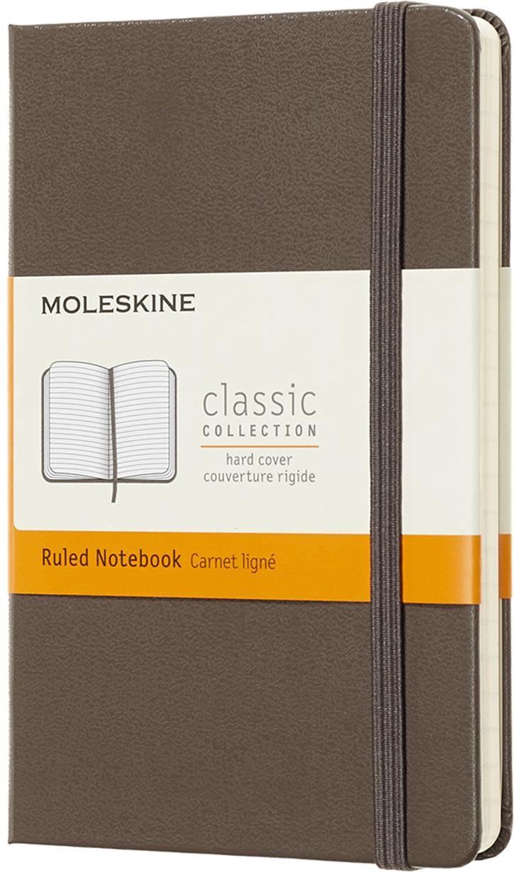 Moleskine Блокнот Classic Pocket 9 x 14 см 96 листов в линейку цвет коричневый блокнот pocket 96 листов в линейку бордовый