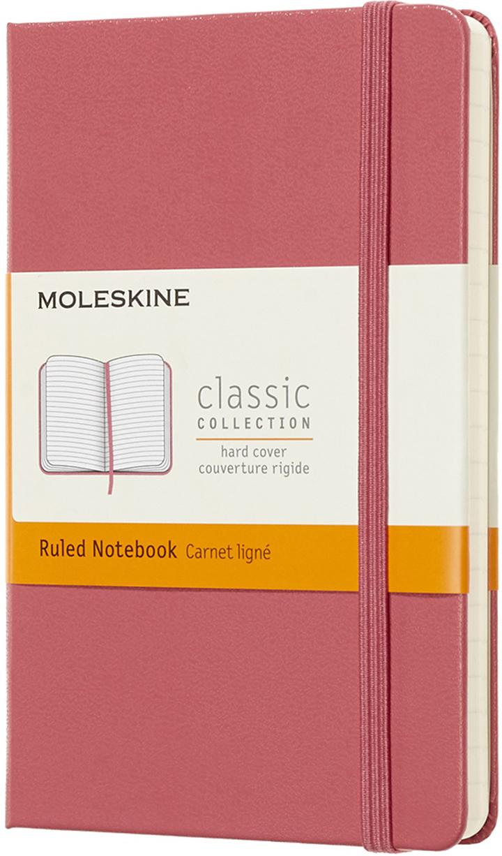 Moleskine Блокнот Classic Pocket 9 x 14 см 96 листов в линейку цвет розовый