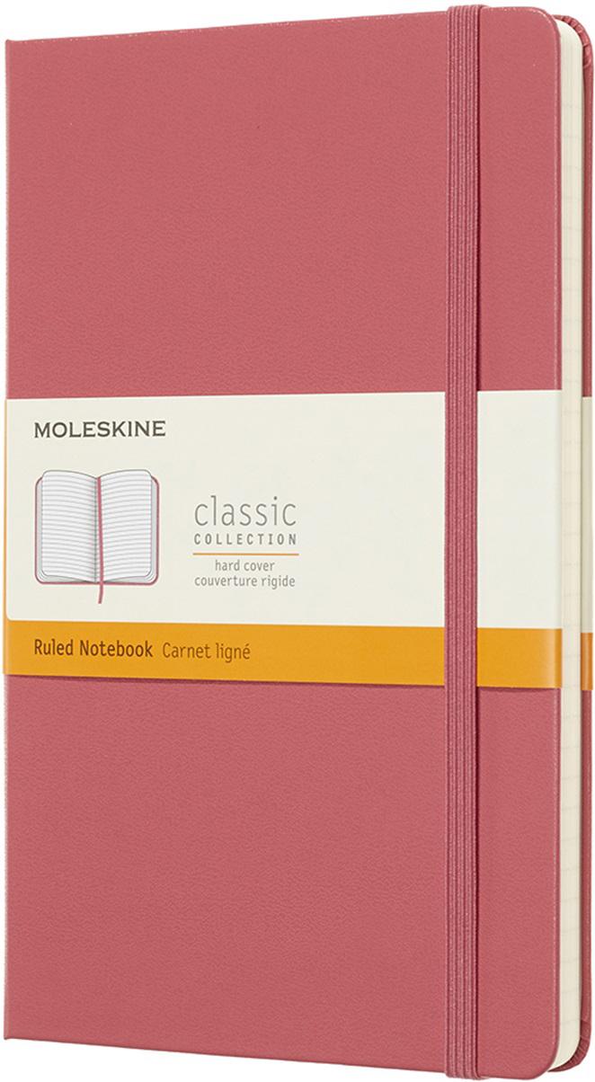 Moleskine Блокнот Classic Large 13 x 21 см 120 листов в линейку цвет розовый