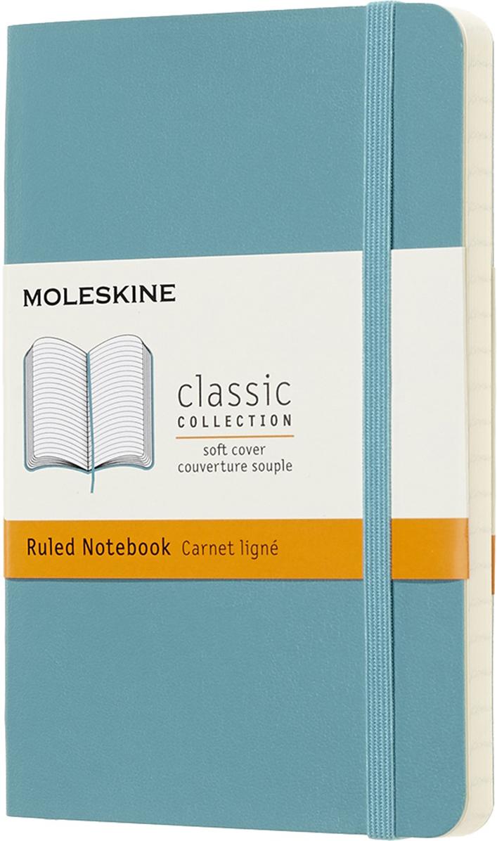 Moleskine Блокнот Classic Soft 9 x 14 см 96 листов в линейку цвет голубой