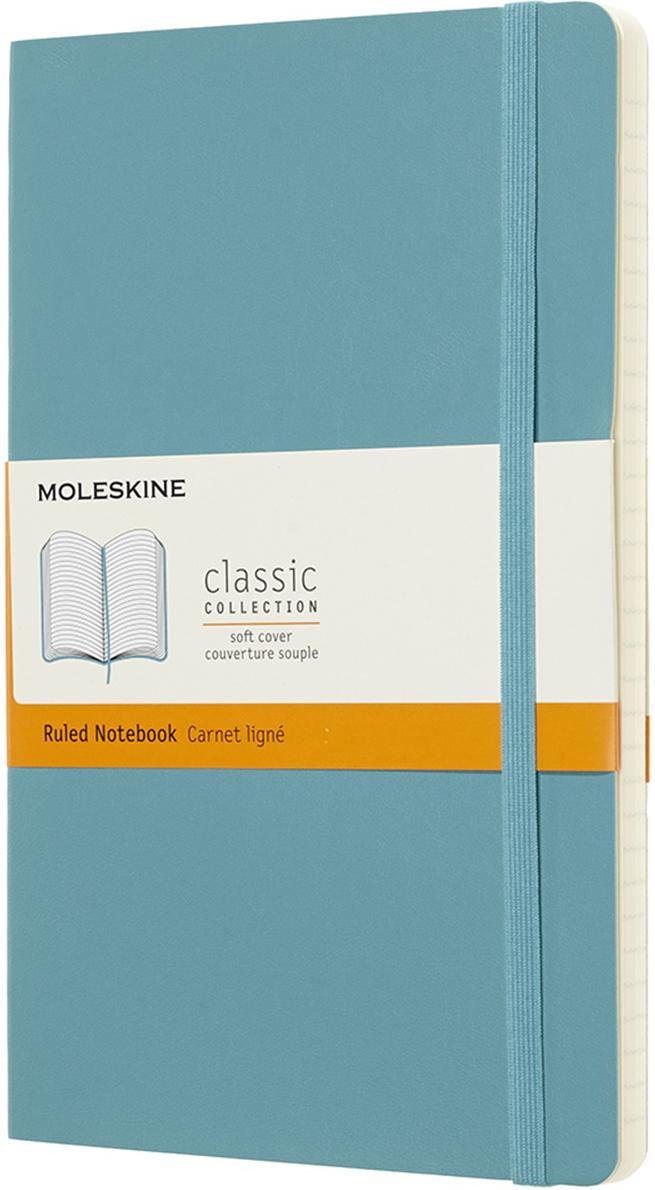 Moleskine Блокнот Classic Soft 13 x 21 см 96 листов в линейку цвет голубой