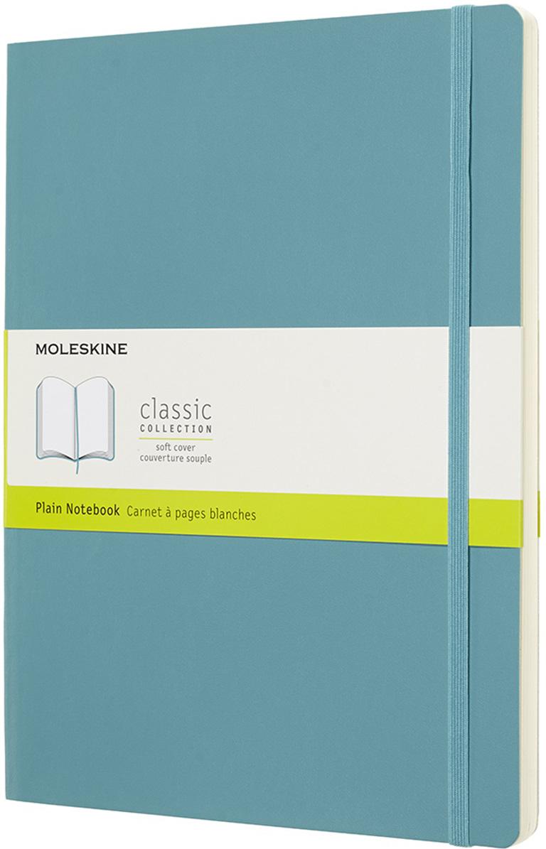 Moleskine Блокнот Classic Soft 19 x 25 см 96 листов нелинованный цвет голубой