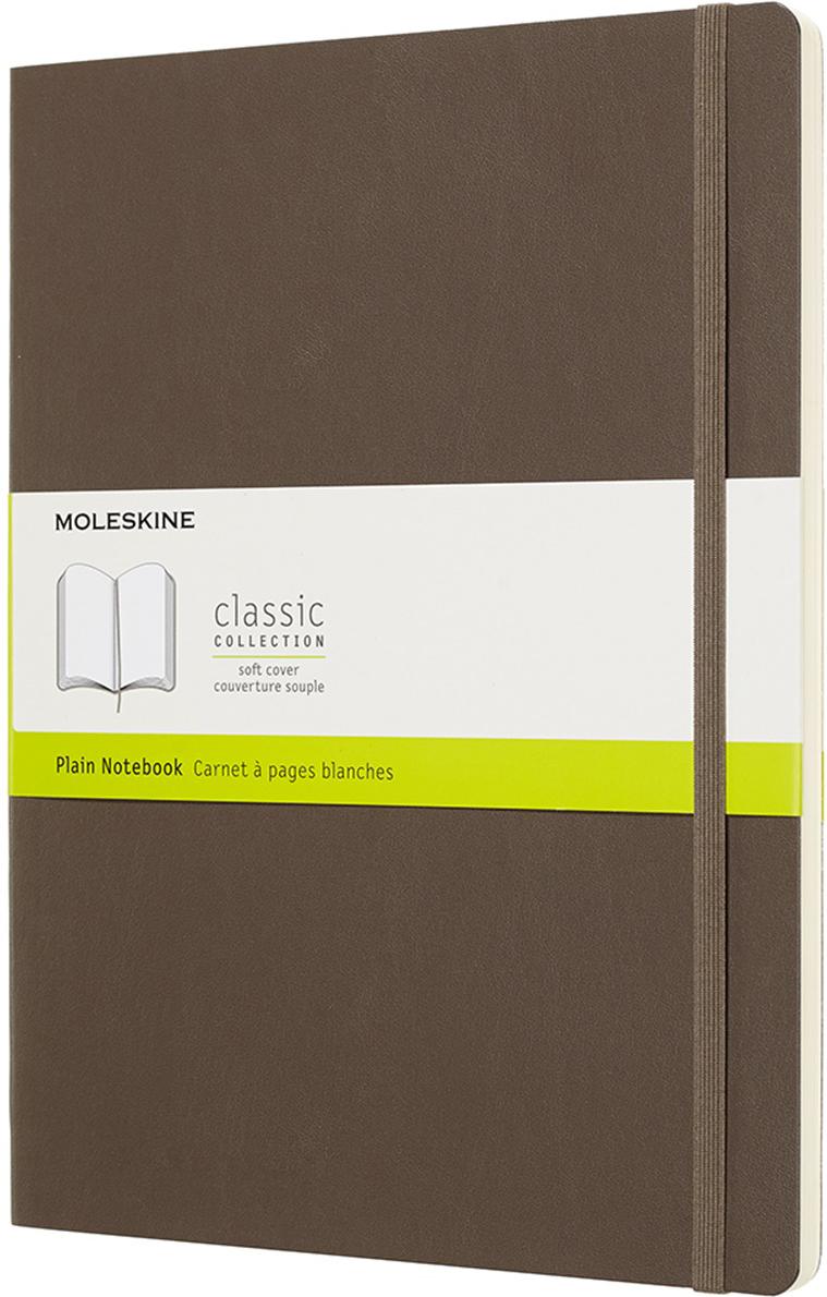 Moleskine Блокнот Classic Soft 19 x 25 см 96 листов нелинованный цвет коричневый