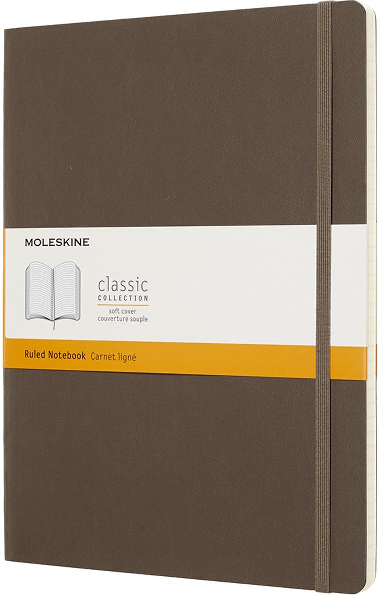 Moleskine Блокнот Classic Soft 19 x 25 см 96 листов в линейку цвет коричневый