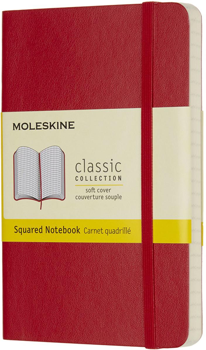 Moleskine Блокнот Classic Soft 9 x 14 см 96 листов в клетку цвет красный